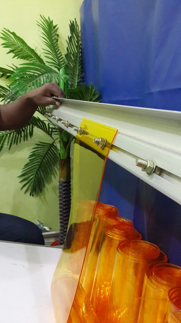 PVC Strip Curtains Hanger Aluminium Channel for PVC Strip Curtains fixing, PVC Strip Curtains Mounting Hardware, Plastic Curtains Mounting Clamps, Aluminium Extrude for PVC Strip Doors, Bold nut systems for PVC Strip Curtains, PVC Strip Curtains Channel online buy, PVC Strip Curtains fixing Channel,